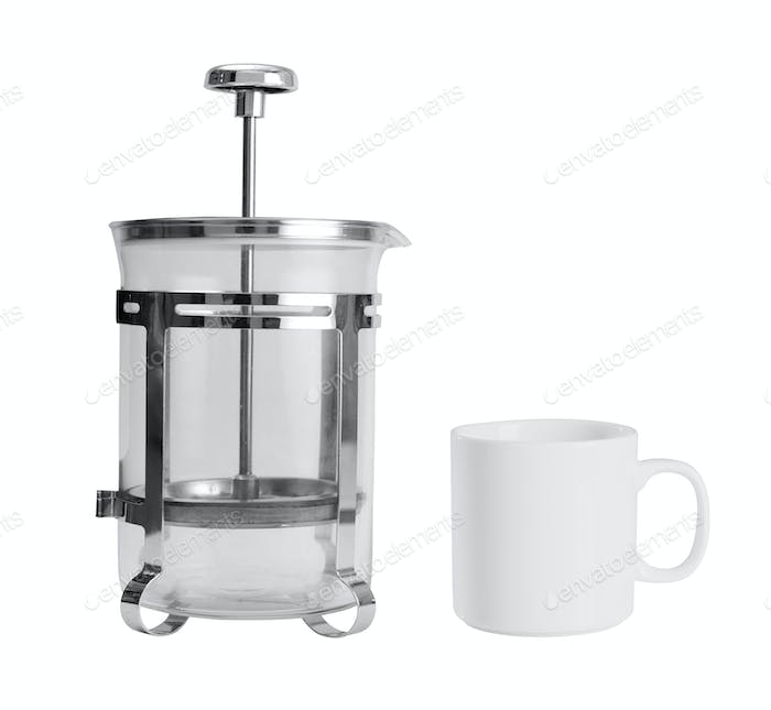 coffee maker with cup isolated