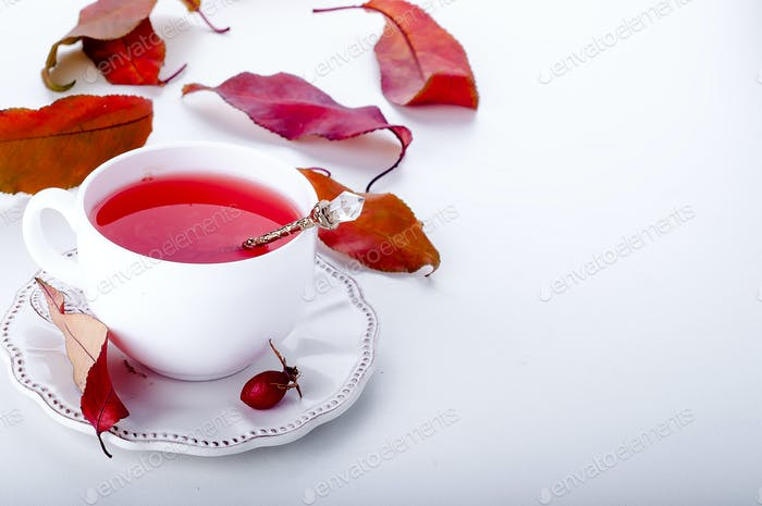 Dog rose tea - healthy beverage autumn