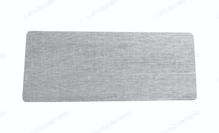 metal sheet isolated on white