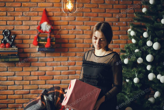 Lady with a present
