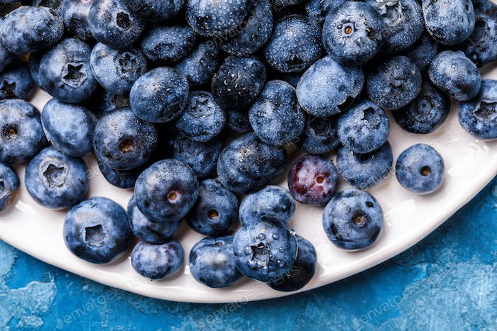 Fresh Fresh blueberries .Concept  Healthy Food. Diet Nutrition