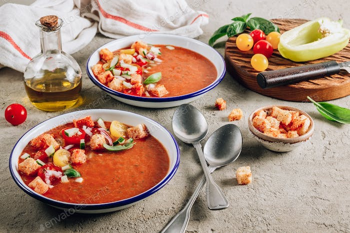 Cold soup gazpacho