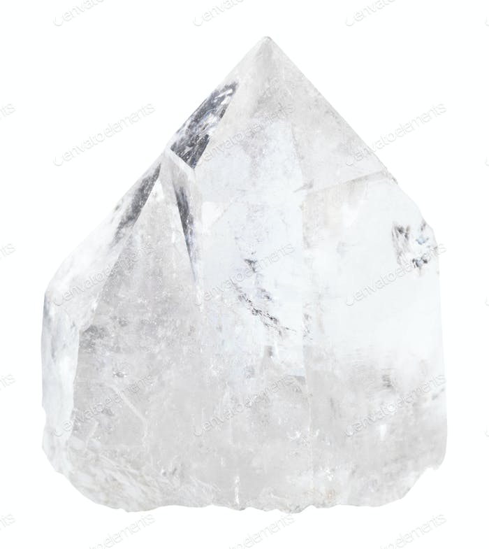 natural quartz rock-crystal isolated