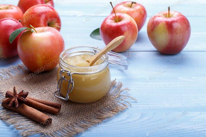 Home made apple pure