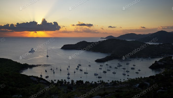 English Harbour Sunset, Antigua