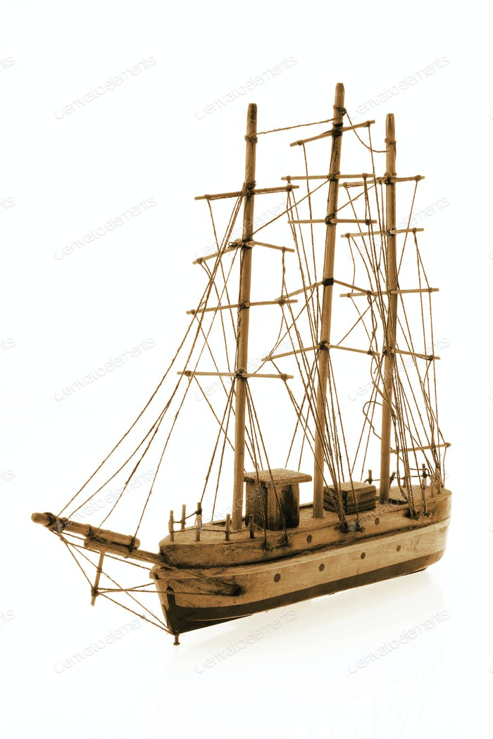 Wooden Antique Tall Ship