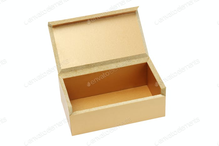 Open brown gift box