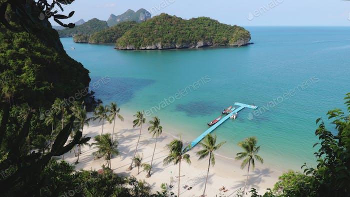 Luftaufnahme der exotischen Insel Thailand Marine Park