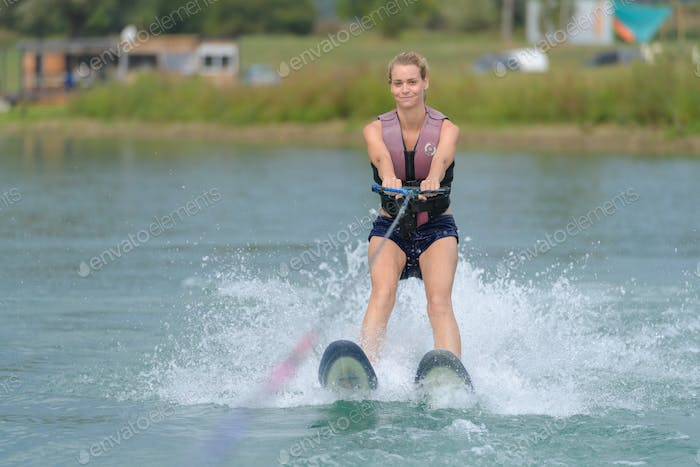 doing some wakeboarding