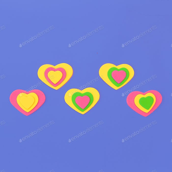 Mini hearts. Emotions. Candy Color Fashion minimal art