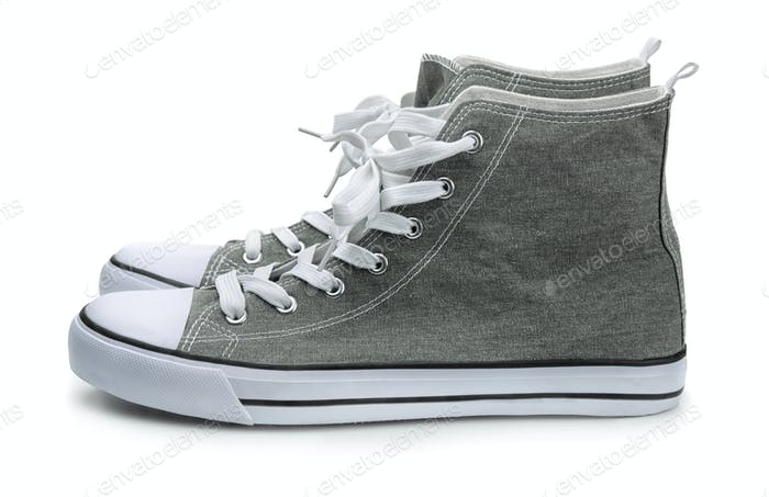 Pair of canvas sport shoes