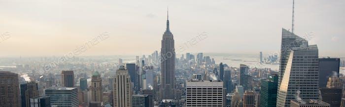 Vista de la Ciudad de Novedad York desde Rockefeller Center, Nueva York, Estados Unidos
