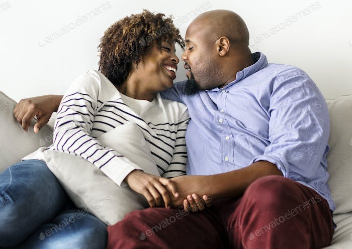Couple having a romantic and happy time together