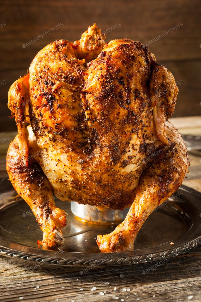 Homemade Grilled Beer Can Chicken