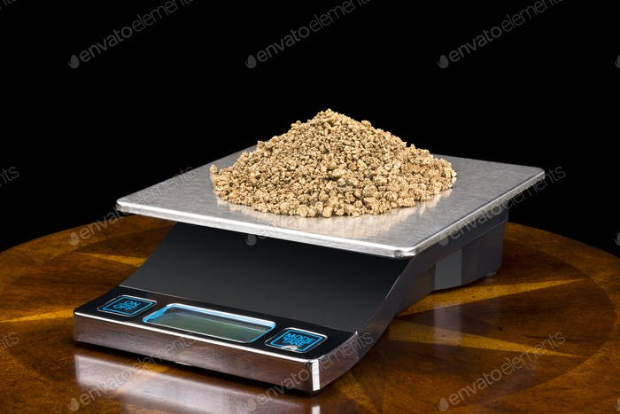 Gold Nuggets on Scale