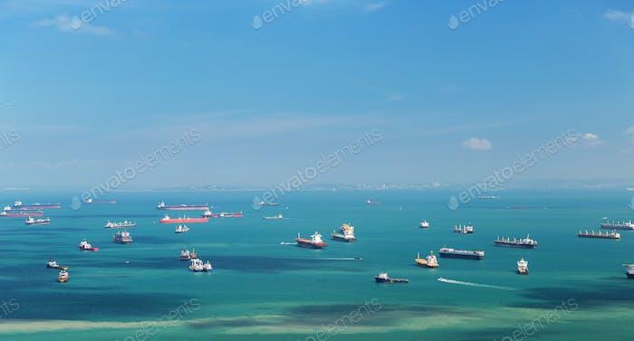 boats sailing in ocean