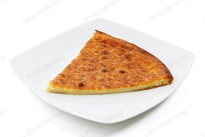 plate with farinata