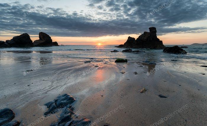 Sunset at Porthcothan