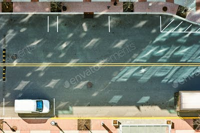 Street road view from above