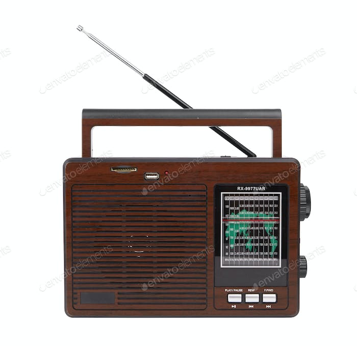 Audio player with a radio