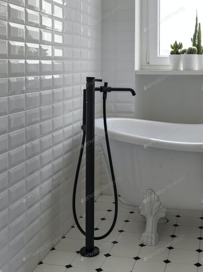 Interiors of s Modern Bathroom