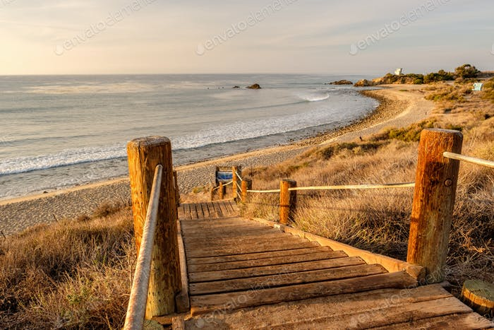 USA Pacific coast, Leo Carrillo State Beach, California.