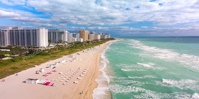 Luftaufnahme von South Beach, Miami, Florida