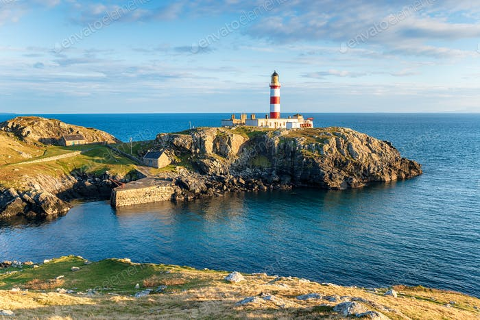 Eilean Glas Lighthouse in Scotland