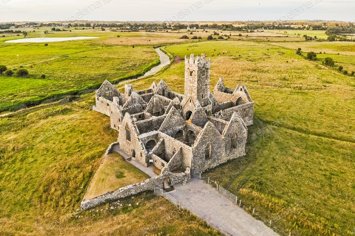 Aerial View of Ross Errilly Friary