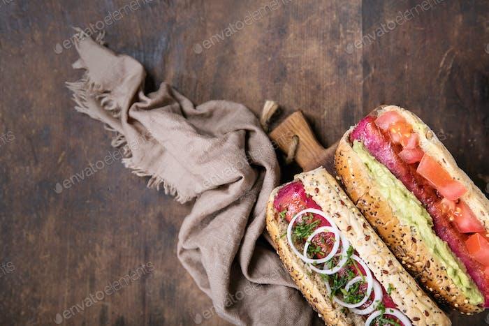 Vegetarische Hot Dogs