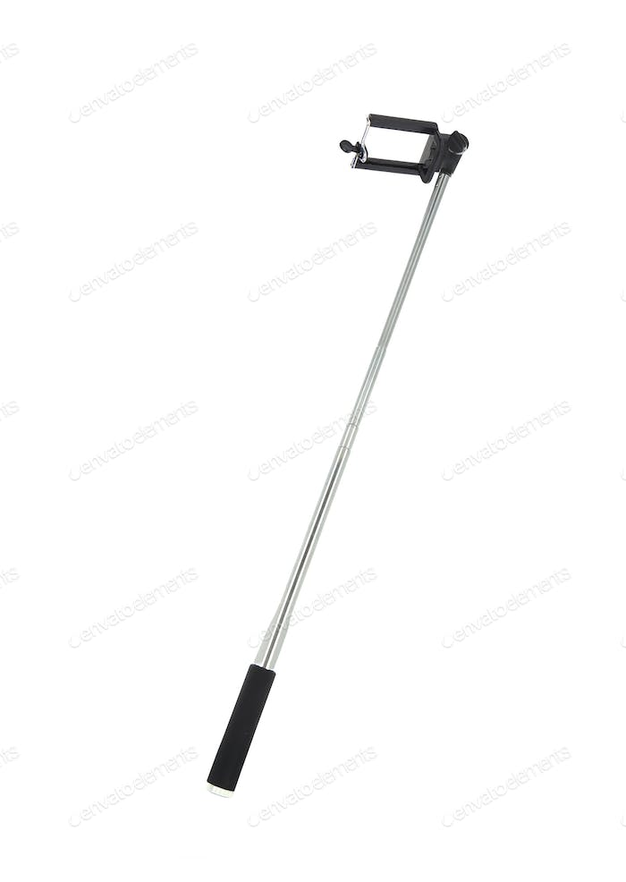modern selfie stick isolated