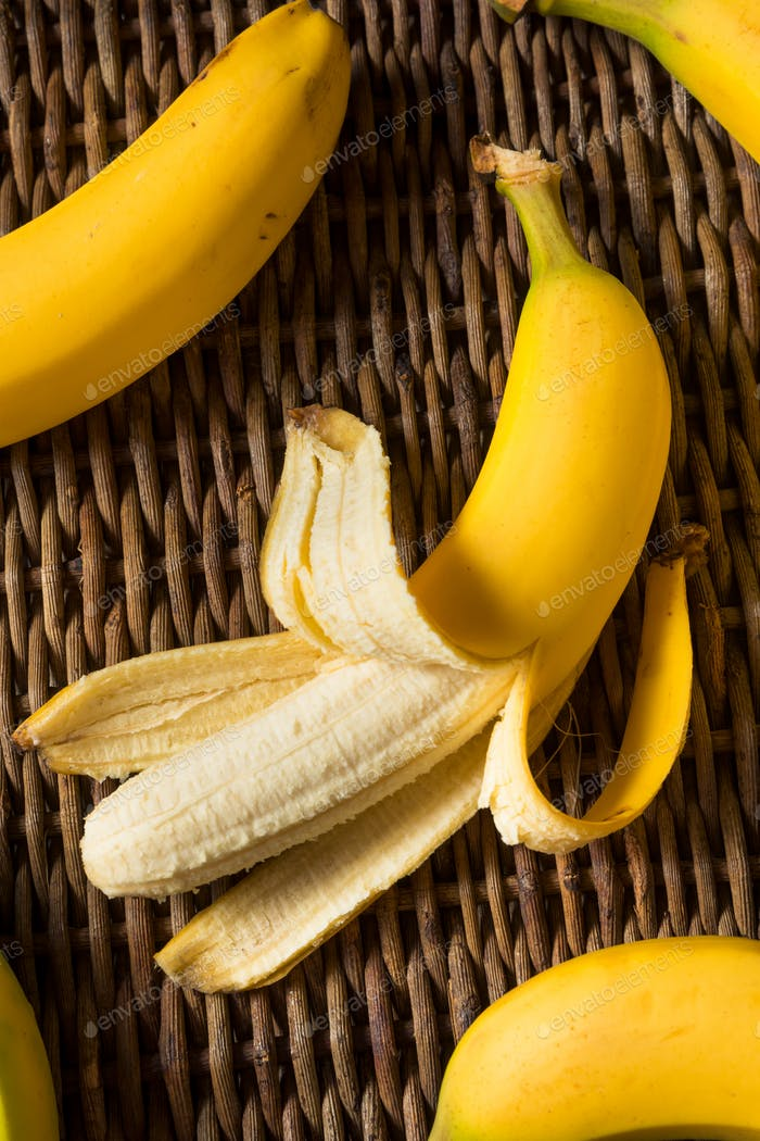 Raw Yellow Organic Bananas