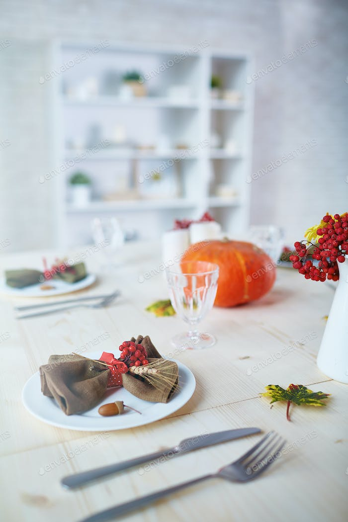 Served festive table