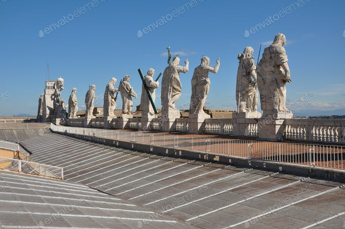 Statues of the apostles. Saint Peter's basilica, Vatican
