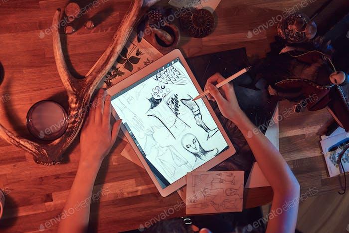Sketching in the digital way at workshop