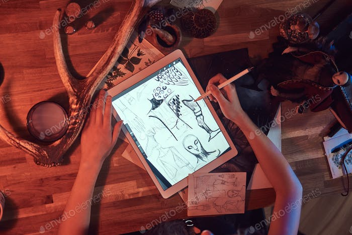 Dibujar de forma digital en el taller