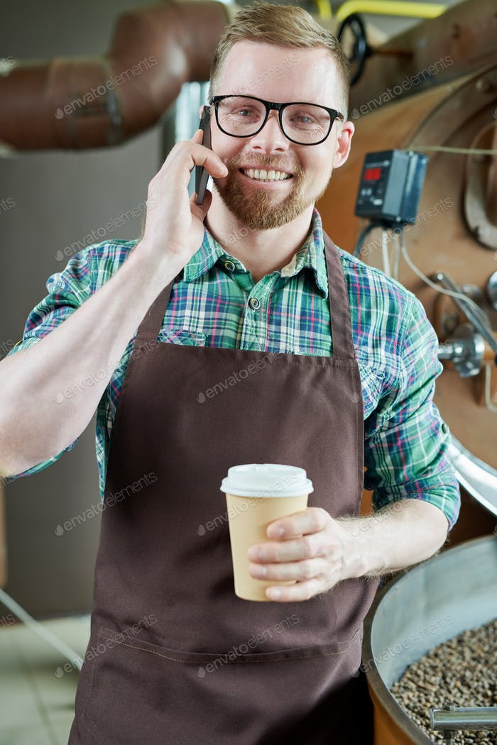 Modern Barista Speaking by Phone