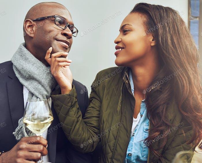Black couple having a good time