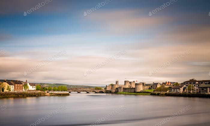 Shannon river and the King Johns Castle