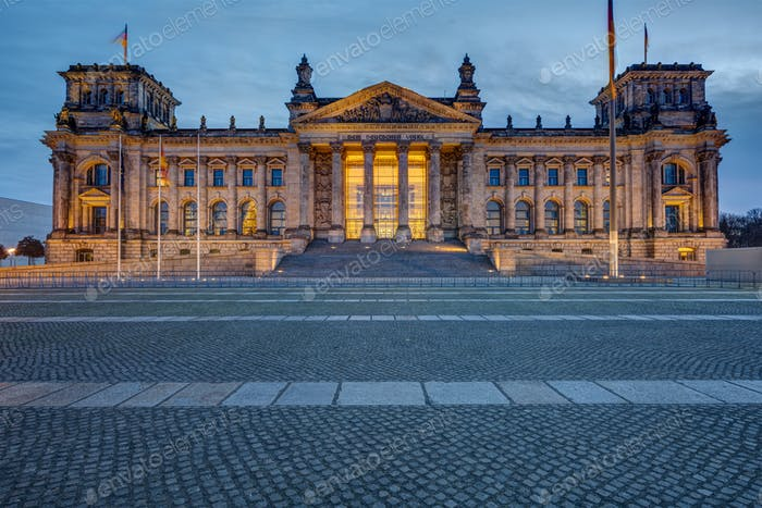 The entrance portal of the famous Reichstag