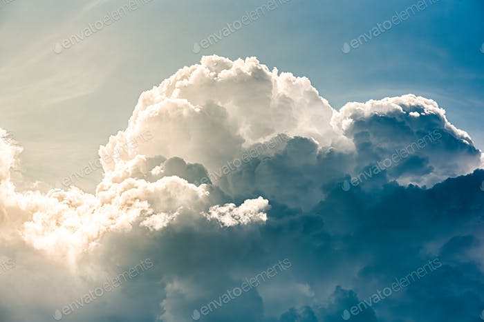White Cumulus clouds. Sky abstract natural background