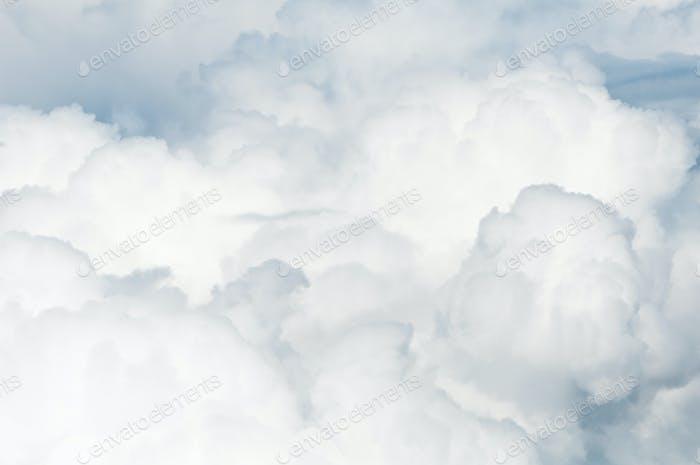 starke Wolken von oben