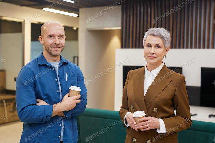 Female Manager Posing with Client