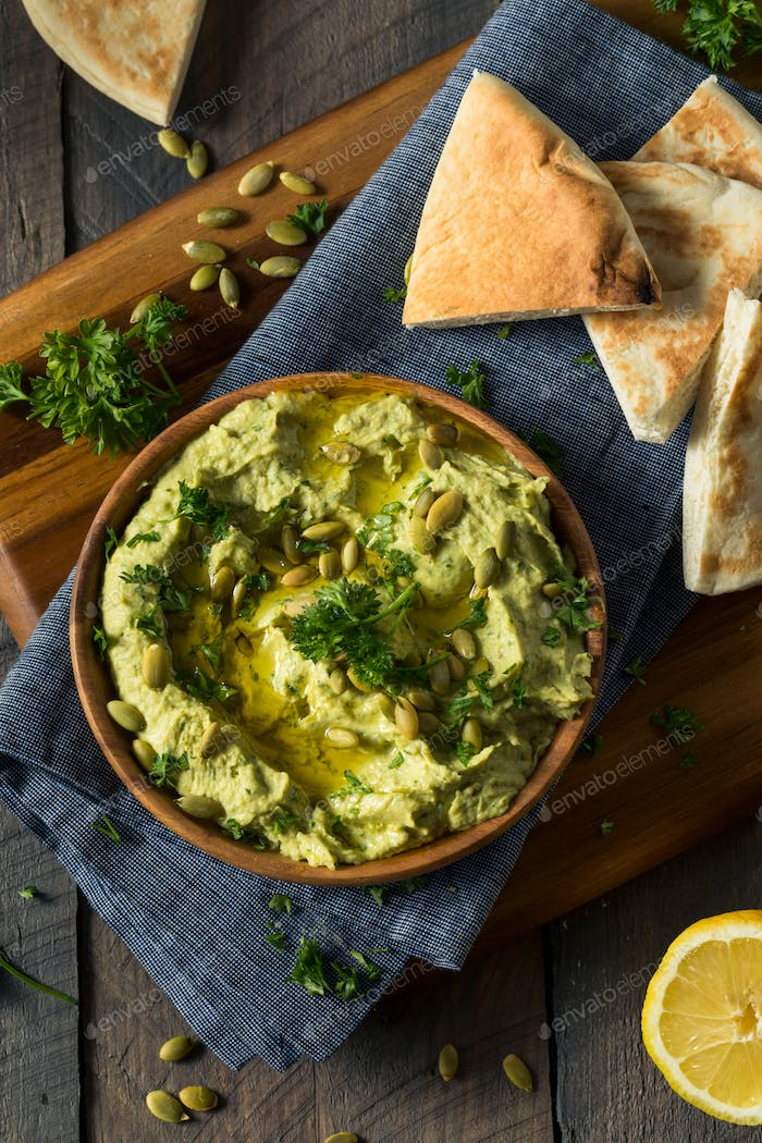 Raw Organic Avocado Hummus