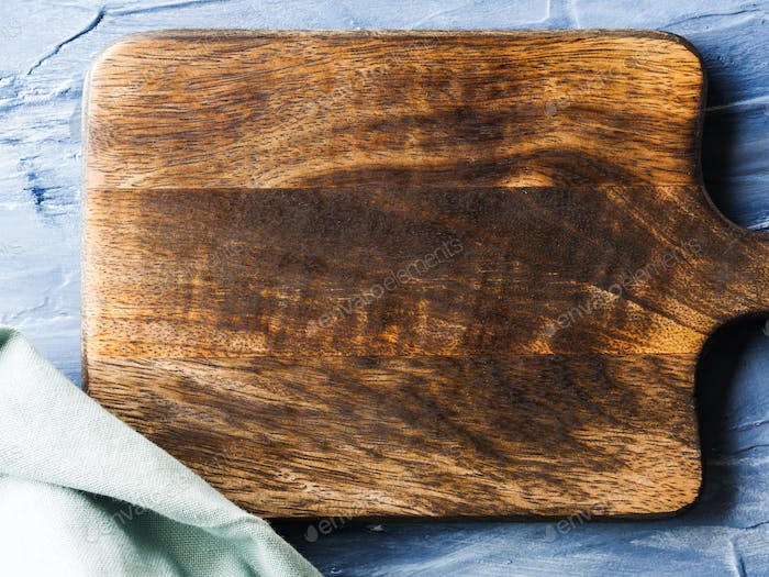Wooden chopping board background