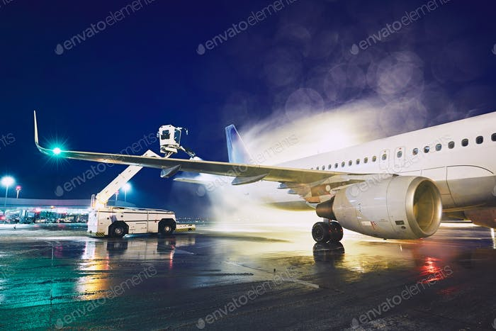 Thumbnail for Deicing of the airplane