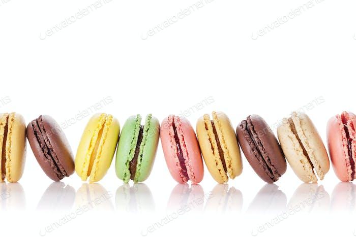 Colorful macaroons. Sweet macarons