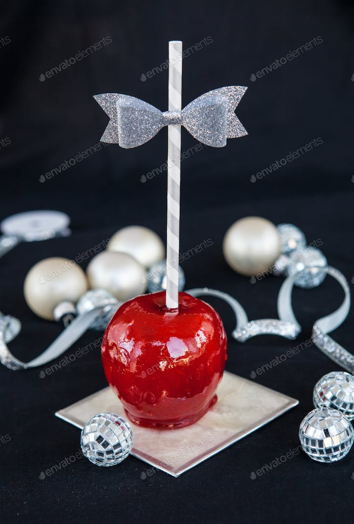 Red candy apples