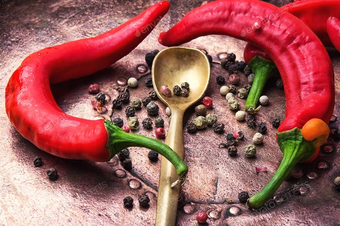 Spicy oriental spice red pepper