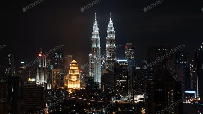 Night in Kuala Lumpur, Malaysia